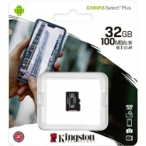 Карта памяти microSDHC 32Gb Kingston Canvas Select Plus (100Mb/s, 10Mb/s, class 10)