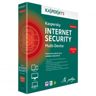 Коробка Kaspersky Internet Security Multi-Device  Russian, лицензия на 2-Device на 1 год